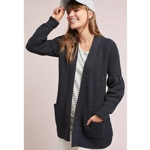 anthro Knitted And Knotted Majella chunky cardigan